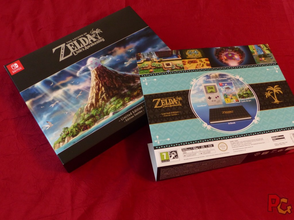 Collector Zelda Link's Awakening - boîte avec surcouche arrière