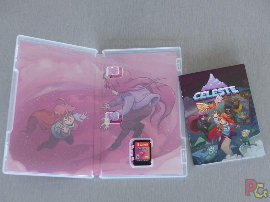 Unboxing collector Celeste - boîte de jeu ouverte