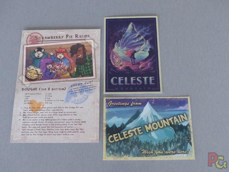 Unboxing collector Celeste - carte postale et recette