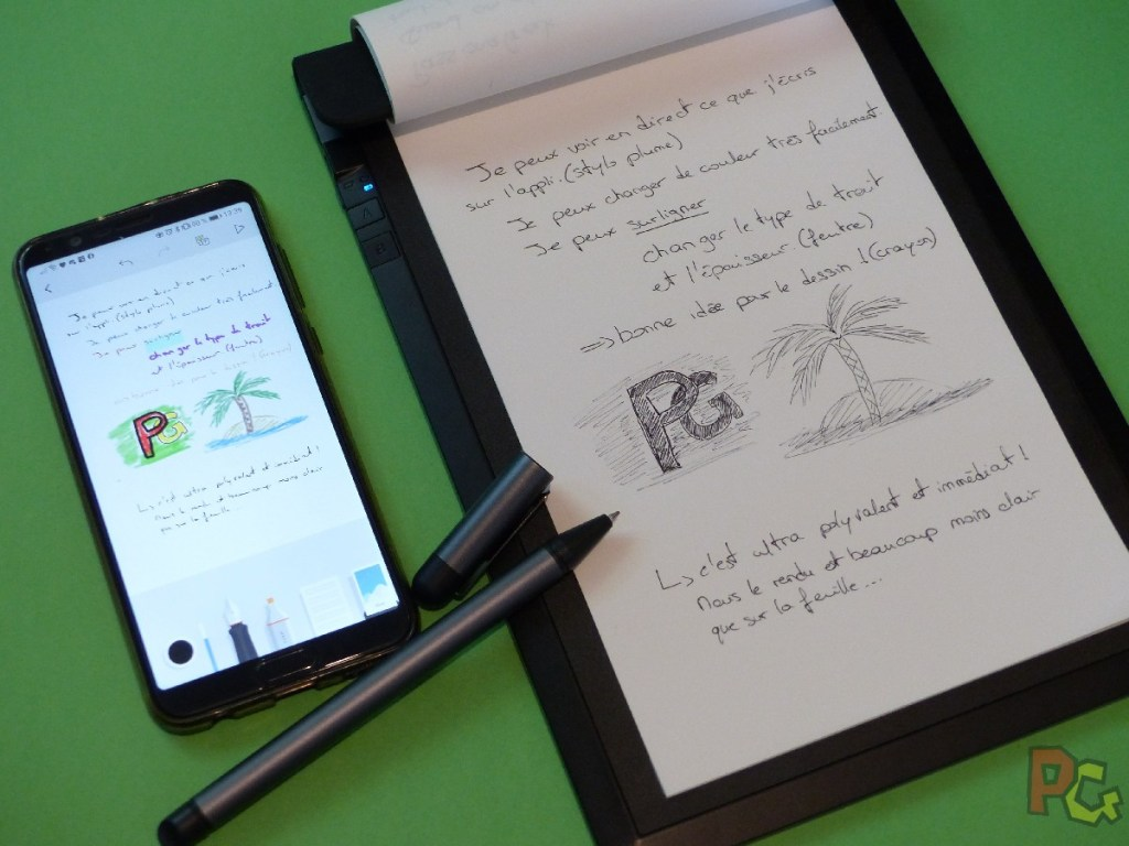 Tablette RoWrite - synchro en direct