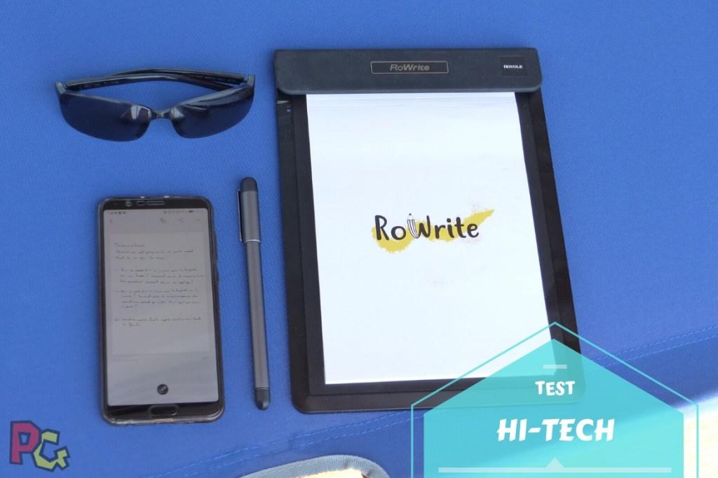 Test Tablette RoWrite - bannière