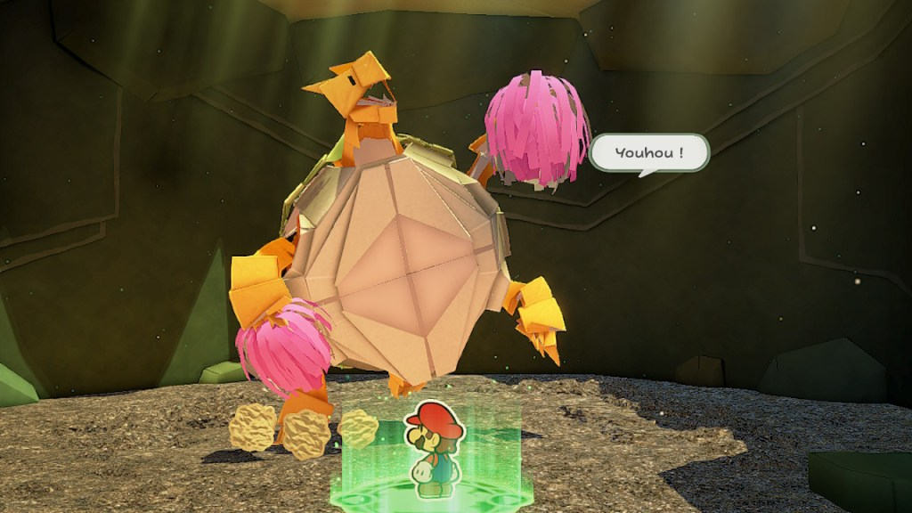 Paper Mario The Origami King - pouvoir Espli Terre