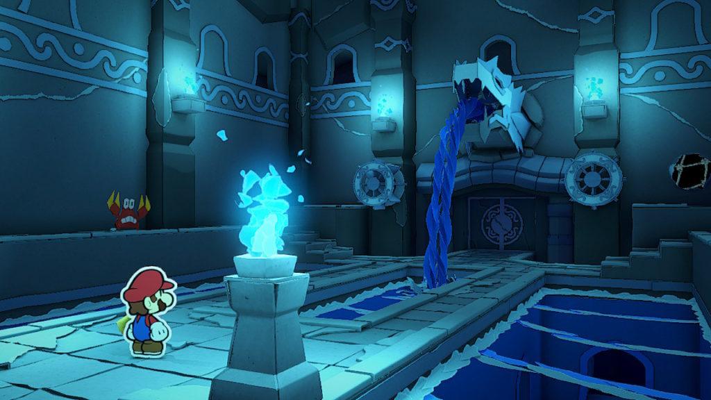 Paper Mario The Origami King - sanctuaire eau