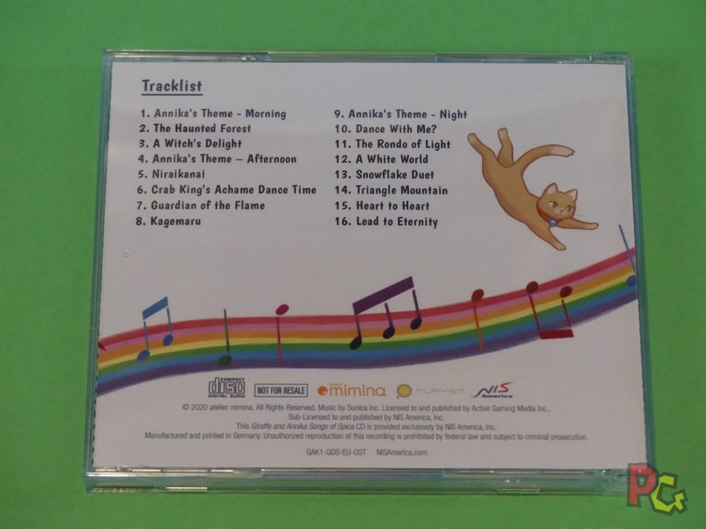 Giraffe and Annika - CD verso