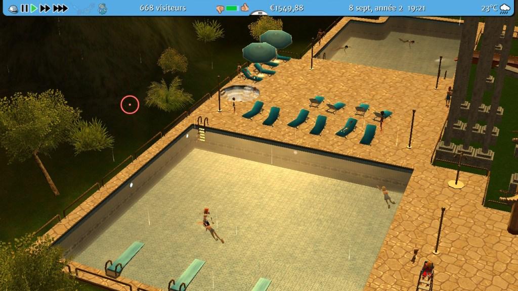 RCT3 - piscine et transats