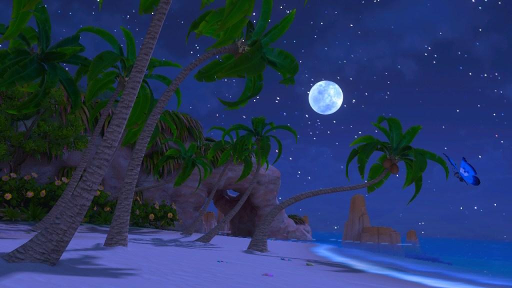 New Pokemon Snap - plage de nuit
