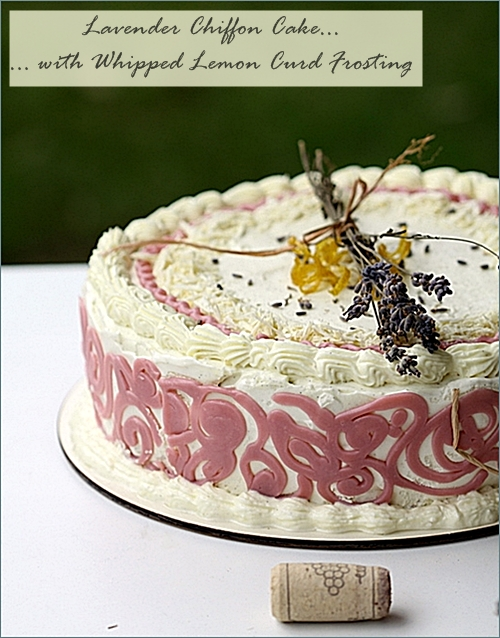 Baking | Lavender Chiffon Cake with Whipped Lemon Curd Frosting