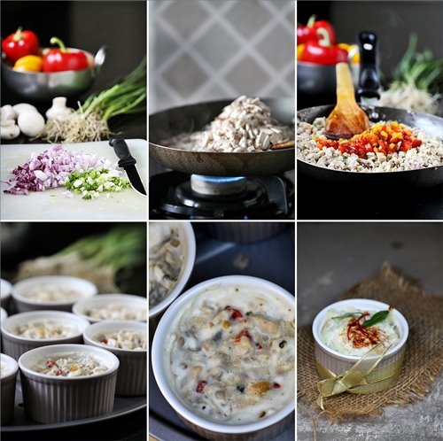 Chicken, Mushroom & Roasted Pepper Julienne