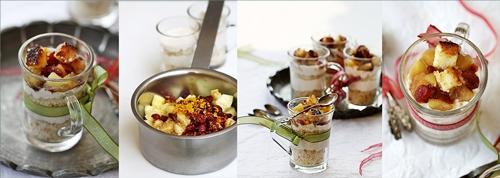 Lebkuchen Cream & Genoise Verrines with Apple Craisin Compote