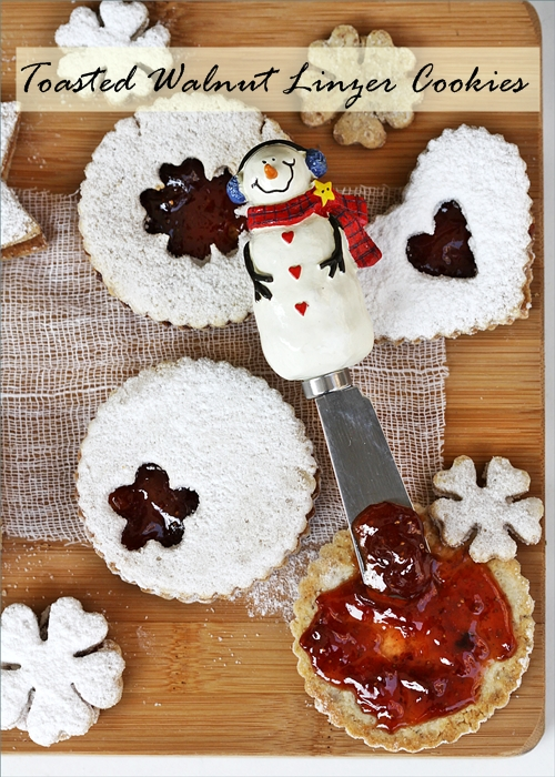 Baking   Toasted Walnut Linzer Cookies with Strawberry Filling … Holiday Baking Fun!