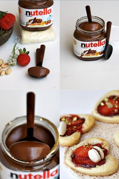 Baking| Nutella Strawberry Puff Pastry Hearts  … ♥World Nutella Day♥