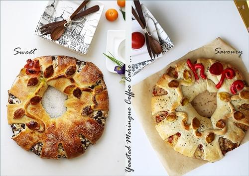 Yeasted Meringue Coffee Cake -sweet & savoury