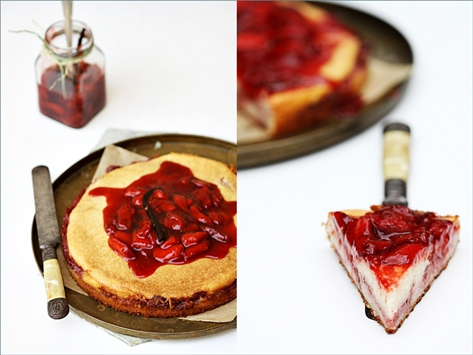 Quarkauflauf, Quark Cassarole with Balsamic Strawberries