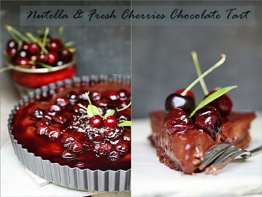 Baking| Nutella & Fresh Cherries Chocolate Tart     May with