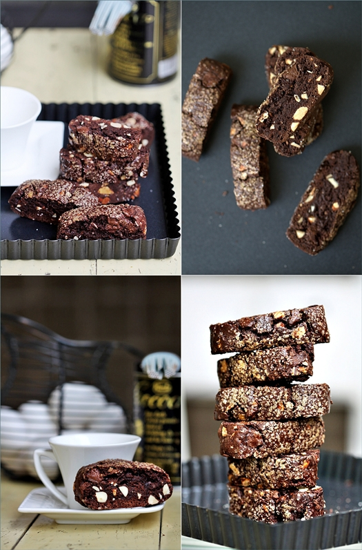 Roasted Almond Double Chocolate Biscotti