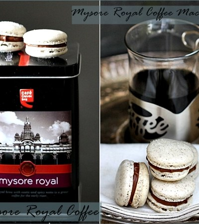 Baking & Feature  Journey into a 'Mysore Royal' cup of coffee …  & royal coffee macarons
