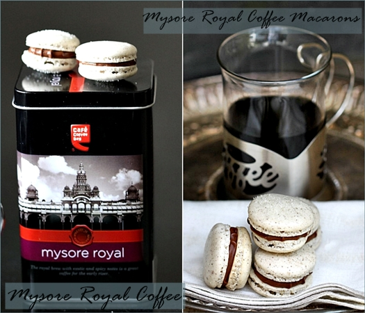 Mysore Royal Coffee & Mysore Royal Coffee Macarons with Mocha Buttercream Filling
