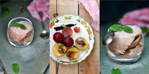 Roasted Peach & Plum Ice Cream