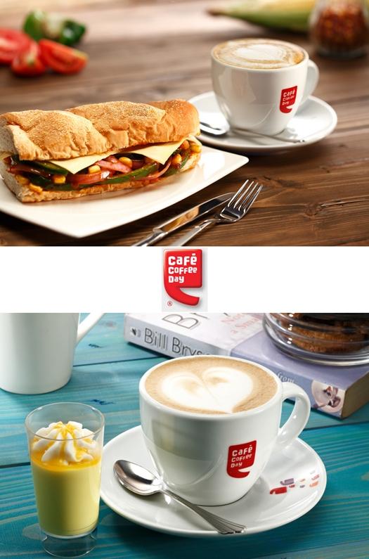 Feasty Filler (Non-Veg Sandwich + Cappuccino) & Fun Filler {Dessert Shot & Cappuccino}