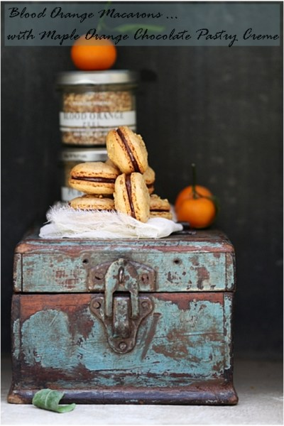Baking| Blood Orange Macarons with Maple Orange Chocolate Pastry Creme … World Macaron Day