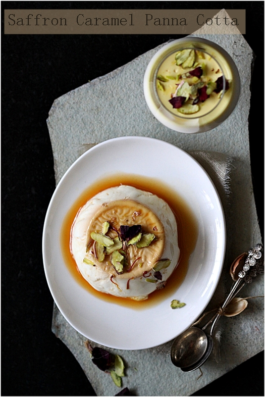 Dessert | Saffron Caramel Panna Cotta  … and Saffron Extract {product review}