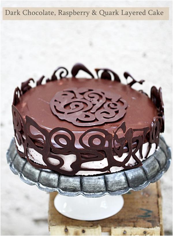 Baking | Dark Chocolate, Raspberry & Quark Layered Cake … still in the pink of October!