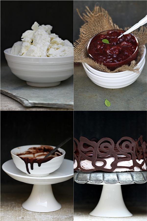 Dark Chocolate, Raspberry & Quark Layered Cake