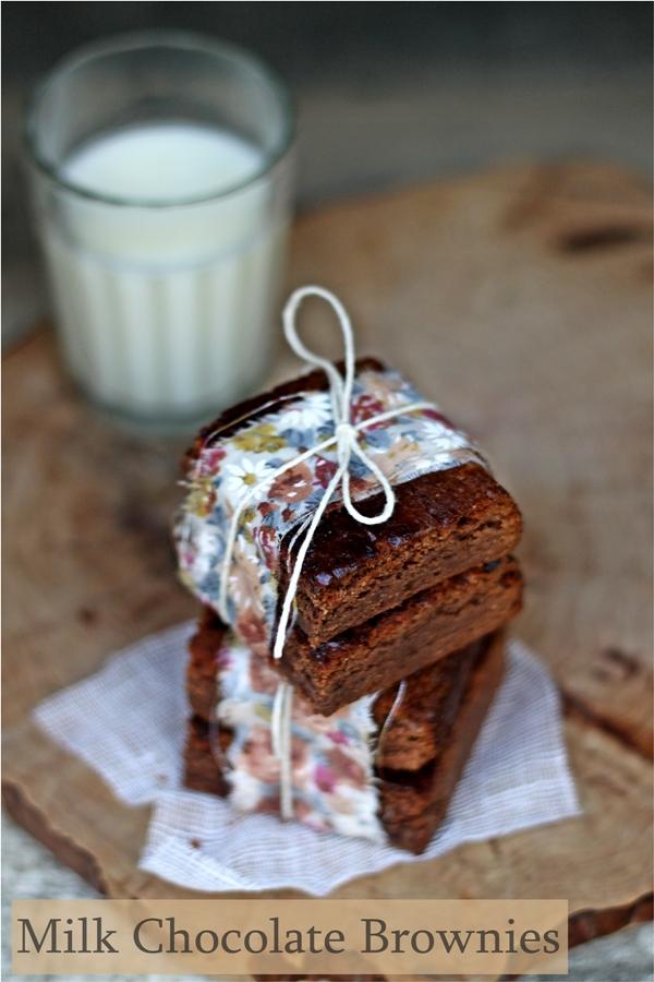 Milk Chocolate Brownies, Baking for Friends