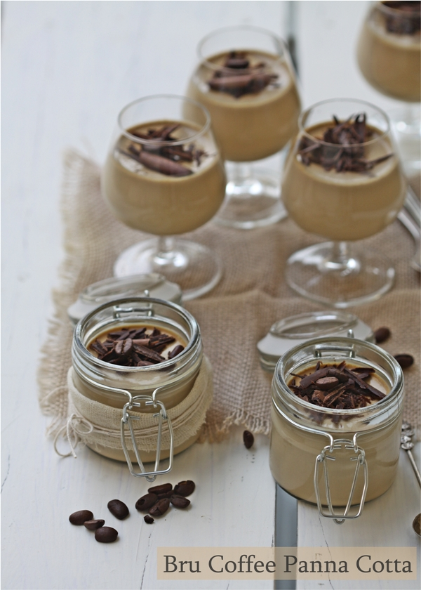 Dessert / No bake | Bru Coffee Panna Cotta … for hectic days of endless work