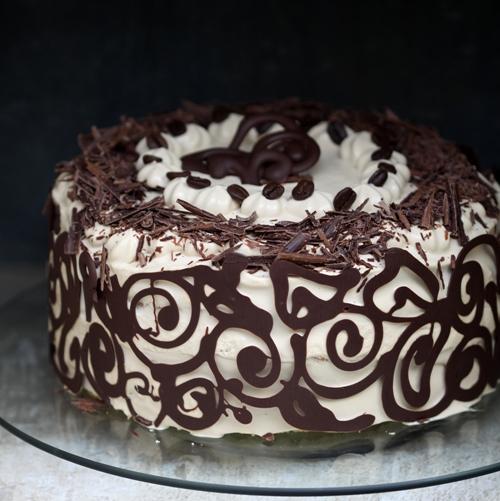 Baking Coffee Amp Vanilla Bean Layered Cake Happy