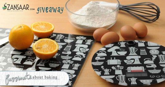 Passionate About Baking Zansaar Giveaway