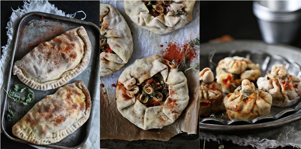 Calzones, Pizza Pies & Popovers with lamb & beet greens