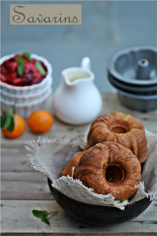 Baking   Traditional Savarins with Crème Patisserie : Daring Bakers – you win some, you lose some!