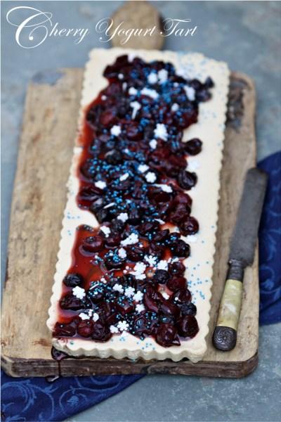 Baking | Cherry Yogurt Tart …. sometimes life can't get simpler than a two ingredient tart filling. Happy 4th!!