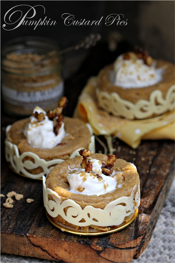 Baking | Perfect Pumpkin Custard Pies, gluten & grain free