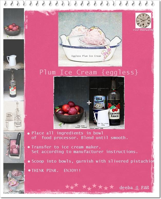 Recipe digital doodle eggless plum ice cream