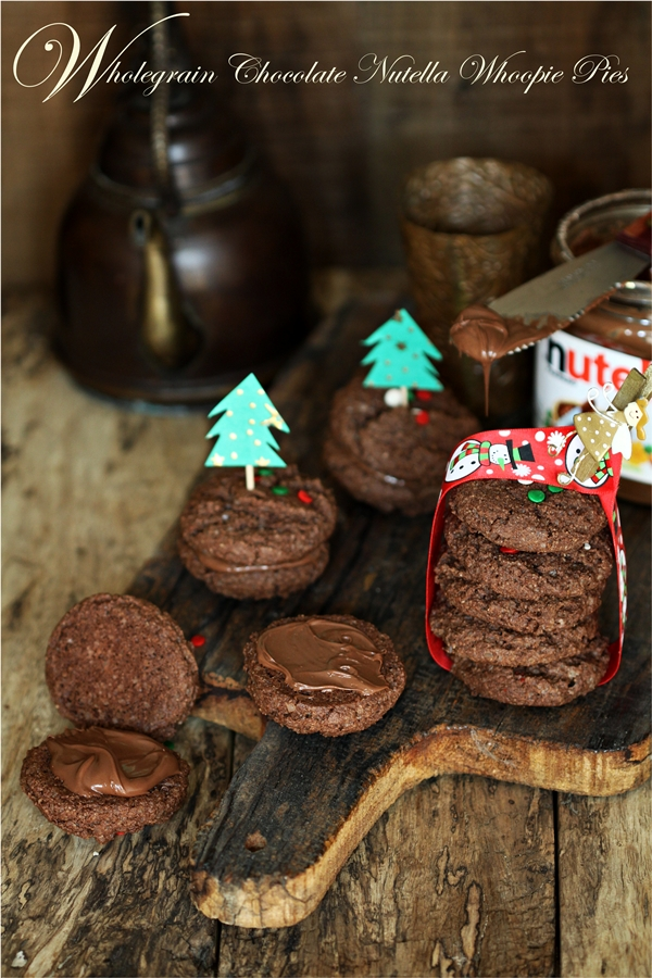 Wholegrain Chocolate Nutella Whoopie Pies