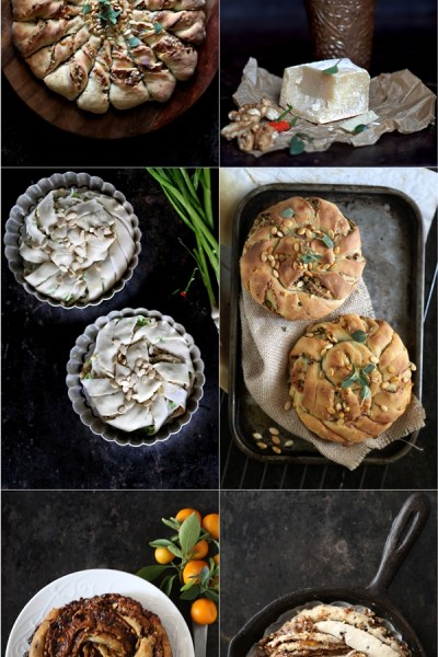Baking | Savoury  Hungarian Kalács, Twisted Buns; Sweet Yeasted  Nutella, Marmalade & Almond Praline Skillet Bread… bread art with the Daring Bakers