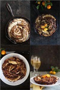 Sweet Yeasted  Nutella, Marmalade & Almond Praline Skillet Bread... bread art with the Daring Bakers