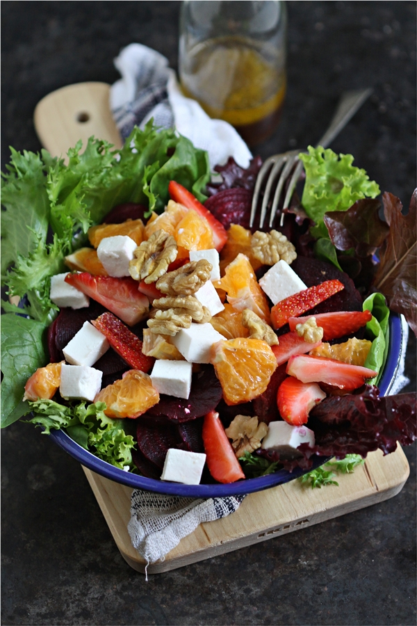 Summer Salad with orange vinaigrette
