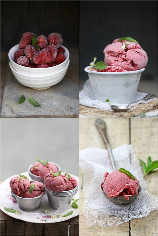 Strawberry Quark Ice Cream