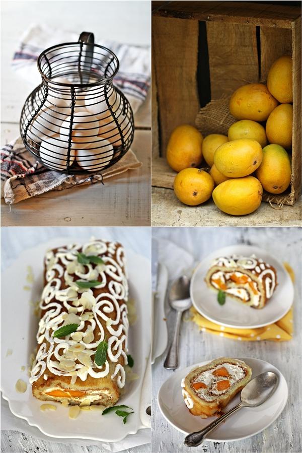 GF Mango Almond Quark Roulade