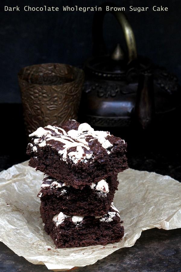 Baking | Dark Chocolate Wholegrain Brown Sugar Cake … wholesome and delicious #wholegrain #cake #chocolate