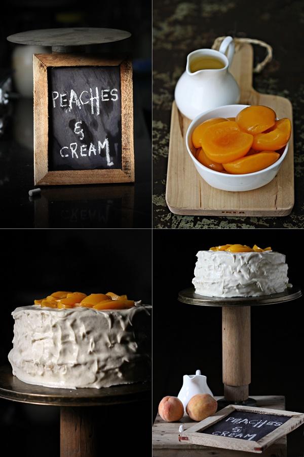 Peaches & Cream Cake