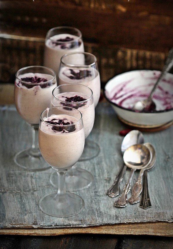 No bake | Jamun {Wild Indian Java Plum} Mousse #dessert #inseason