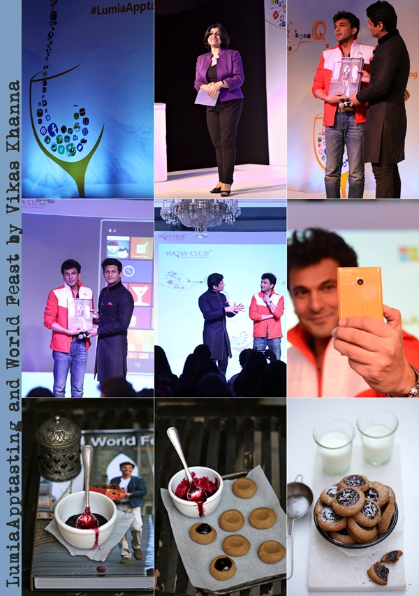 Blogger Event | LumiaApptasting, World Feast by Vikas Khanna… and wholegrain lingonberry thumbprint cookies #wholegrain #cookies #LumiaApptasting #VikasKhanna #RajivMakhni #WorldFeast