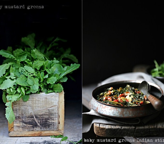 Cooking | Baby Mustard Greens Indian Stir Fry … #freshproduce #NorthIndia #vegetarian #stirfry #healthy