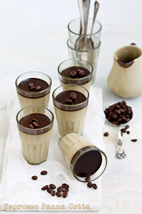 Dessert /No bake | Espresso Panna Cotta … what sweet dreams are made up of #dessert #coffee #eggless