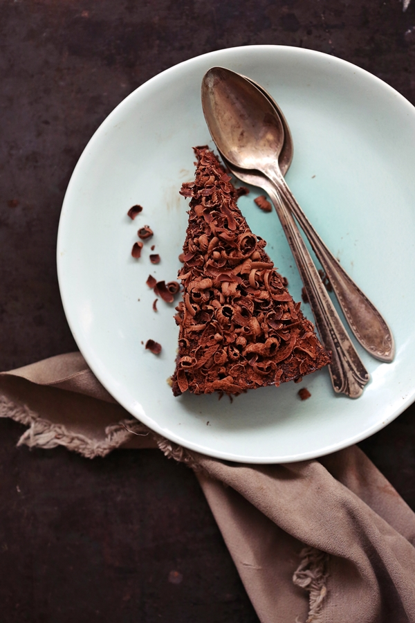 Dark Chocolate Quark Cheesecake