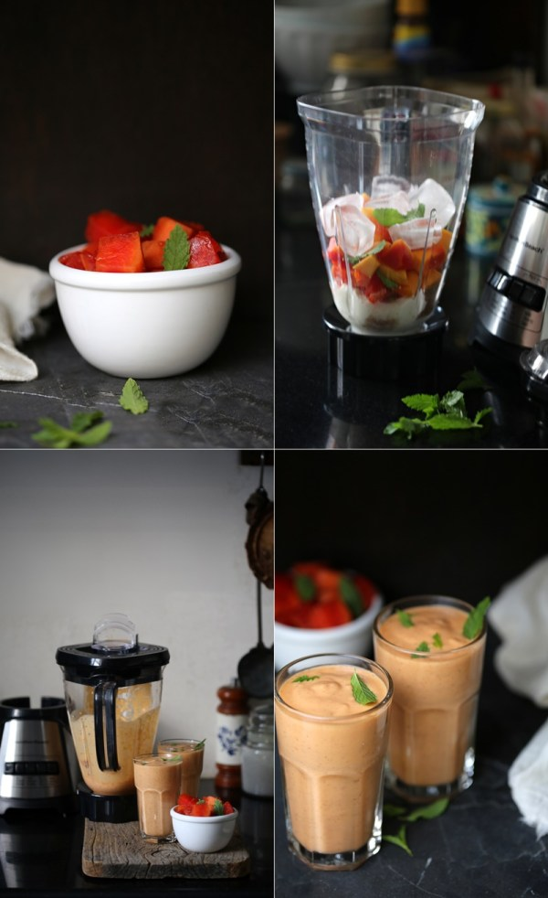 Papaya Yogurt Smoothie